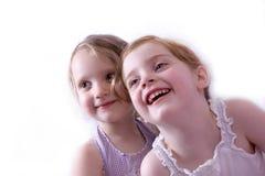 Meninas de sorriso Imagens de Stock