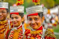 Meninas de sorriso em Shillong em Meghalaya Foto de Stock Royalty Free