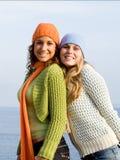 Meninas de sorriso felizes Imagens de Stock