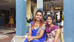 Meninas de Thaipusam - indiano Holyday Fotos de Stock Royalty Free
