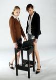 Meninas de trabalho do negócio Imagem de Stock Royalty Free