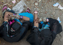 Meninas de Tribals Foto de Stock Royalty Free