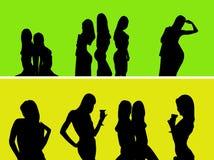 Meninas despidas Fotografia de Stock Royalty Free