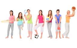 Meninas desportivas Fotografia de Stock