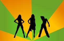 Meninas do disco ilustração do vetor