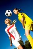Meninas do futebol Fotografia de Stock