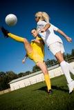 Meninas do futebol Imagens de Stock