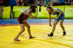 Meninas do lutador Fotografia de Stock