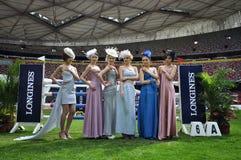 Meninas do modelo e da mostra de Longines Imagem de Stock Royalty Free