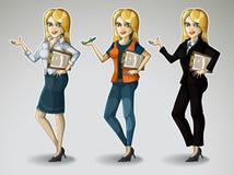 Meninas do negócio Fotos de Stock
