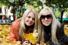 Meninas do outono Imagens de Stock Royalty Free