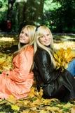 Meninas do outono. Fotos de Stock Royalty Free