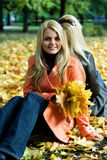 Meninas do outono. Imagem de Stock