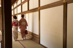 Meninas do quimono fotografia de stock royalty free