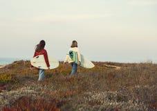Meninas do surfista Imagem de Stock Royalty Free