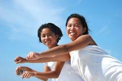 Meninas do vôo Fotografia de Stock
