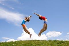 Meninas do vôo Foto de Stock