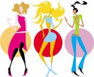Meninas do vetor da ilustração imagens de stock royalty free