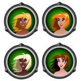 Meninas dos ícones Foto de Stock
