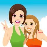 Meninas dos melhores amigos Imagens de Stock