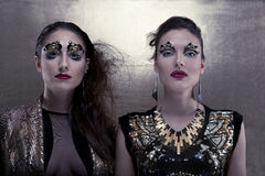 Meninas douradas Imagens de Stock