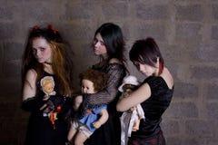 Meninas e bonecas Fotografia de Stock