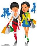 Meninas e compra Fotografia de Stock