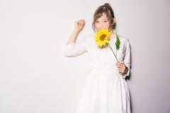 Meninas e flores III Fotos de Stock Royalty Free