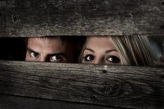 Meninas e meninos dos olhos Imagens de Stock