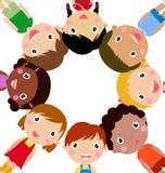 Meninas e meninos felizes Fotografia de Stock