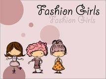 Meninas elegantes, vetor Fotografia de Stock