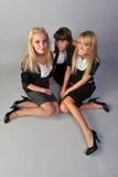 Meninas em um assoalho Imagem de Stock