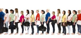 Meninas em uma linha Imagem de Stock