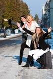 Meninas emocionais na rua Imagens de Stock Royalty Free