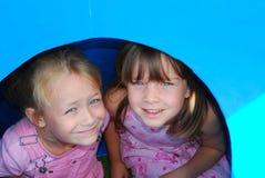 Meninas eyed azuis Imagem de Stock