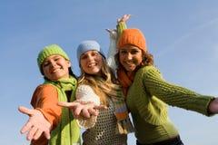 Meninas felizes imagem de stock royalty free