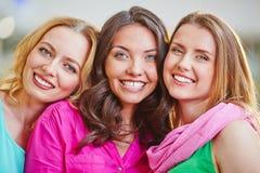 Meninas felizes Fotos de Stock