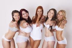 Meninas felizes da beleza Imagens de Stock
