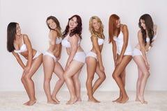 Meninas felizes da beleza Imagem de Stock