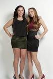 Meninas felizes no branco fotos de stock royalty free