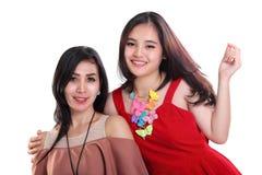 Meninas felizes no retrato da família imagens de stock