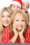 Meninas felizes três gerações Fotos de Stock Royalty Free