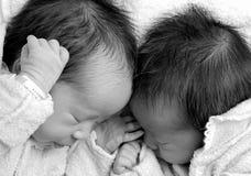 Meninas gêmeas Fotografia de Stock