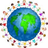 Meninas globais ilustração royalty free