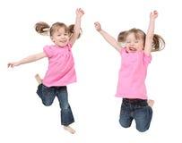 Meninas gêmeas Fotos de Stock Royalty Free