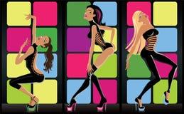 Meninas Go-go Foto de Stock Royalty Free