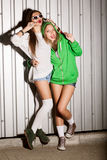Meninas impertinentes Fotografia de Stock