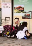 Meninas incomuns no Tóquio Forma em Japão Curso em torno de Ásia fotos de stock