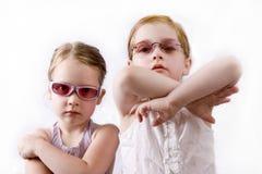 Meninas irritadas Fotos de Stock Royalty Free