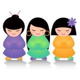 Meninas japonesas Fotografia de Stock Royalty Free